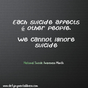 We cannot ignore Suicide