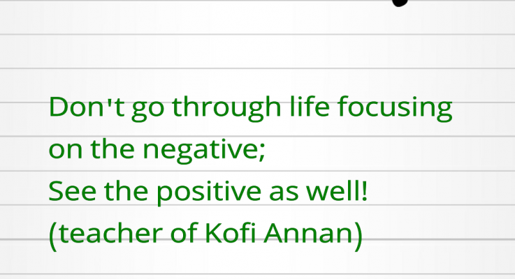 Break free from being Negative