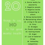20 Things to say no to for good mental health