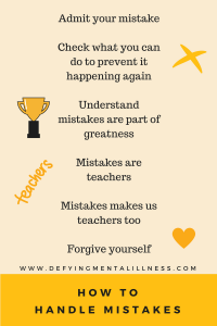 How to handle Mistakes