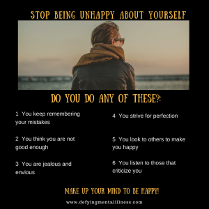 Stop being Unhappy about Yourself