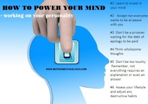 Powering our Mind:  How to work on our Personality