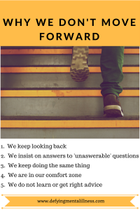 Why we don't Move Forward at times…